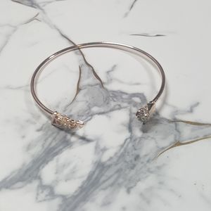 Jewelry - 💎 Gold Tone Love and Crystal Heart Cuff Bracelet